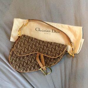 Cristian Dior Saddle purse